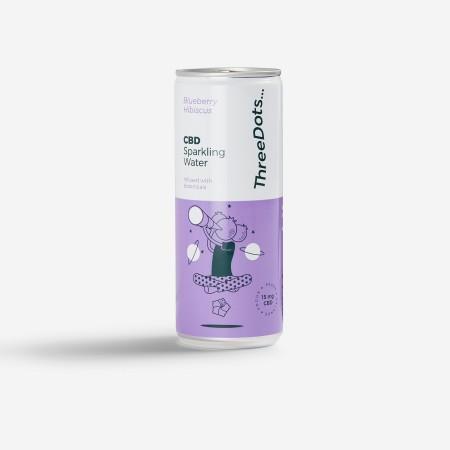 Blueberry & Hibiscus CBD Sparkling Water - 12 pack alternate img #2