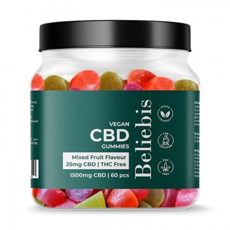 25mg CBD Vegan Gummies - 60 Pack alternate img #1