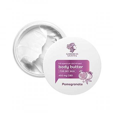 Body Butter for Dry Skin Pomegranate 450 mg CBD, 100 ml alternate img #1