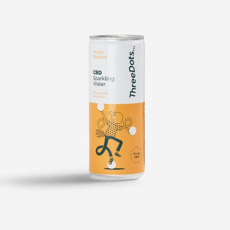 Peach & Rooibos CBD Sparkling Water  - 12 pack alternate img #2