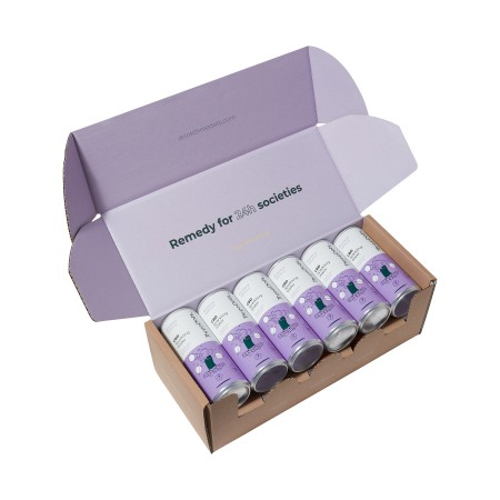 Blueberry & Hibiscus CBD Sparkling Water - 12 pack alternate img #1