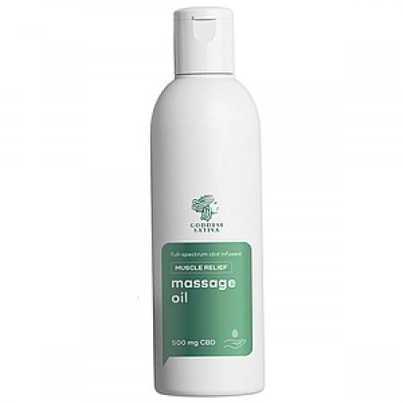 Massage Oil Muscle Relief 500 mg CBD, 200 ml alternate img #1