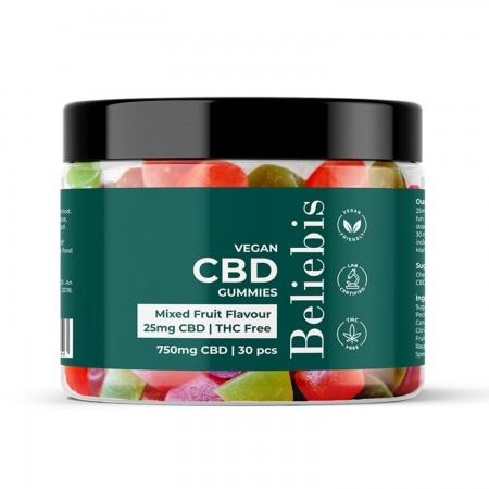 25mg CBD Vegan Gummies - 30 Pack alternate img #1