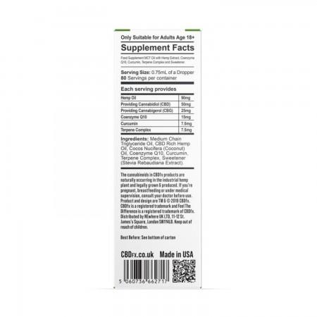 4000mg / 2000mg CBD + CBG Oil Wellness Tincture - 30ml  alternate img #2