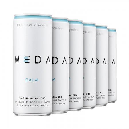 15mg Broad Spectrum CBD Drinks - Calm Lavender & Chamomile (12 pack) alternate img #1