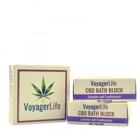 100mg CBD Bath Block - Lavender & Frankincense alternate img #1
