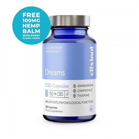 150mg Full Spectrum CBD Dream Capsules (30 pcs) alternate img #1