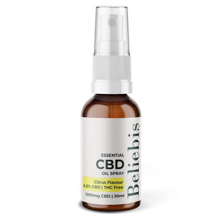 Narrow Spectrum 4% CBD Oil Spray Citrus Flavour - 30ml alternate img #1
