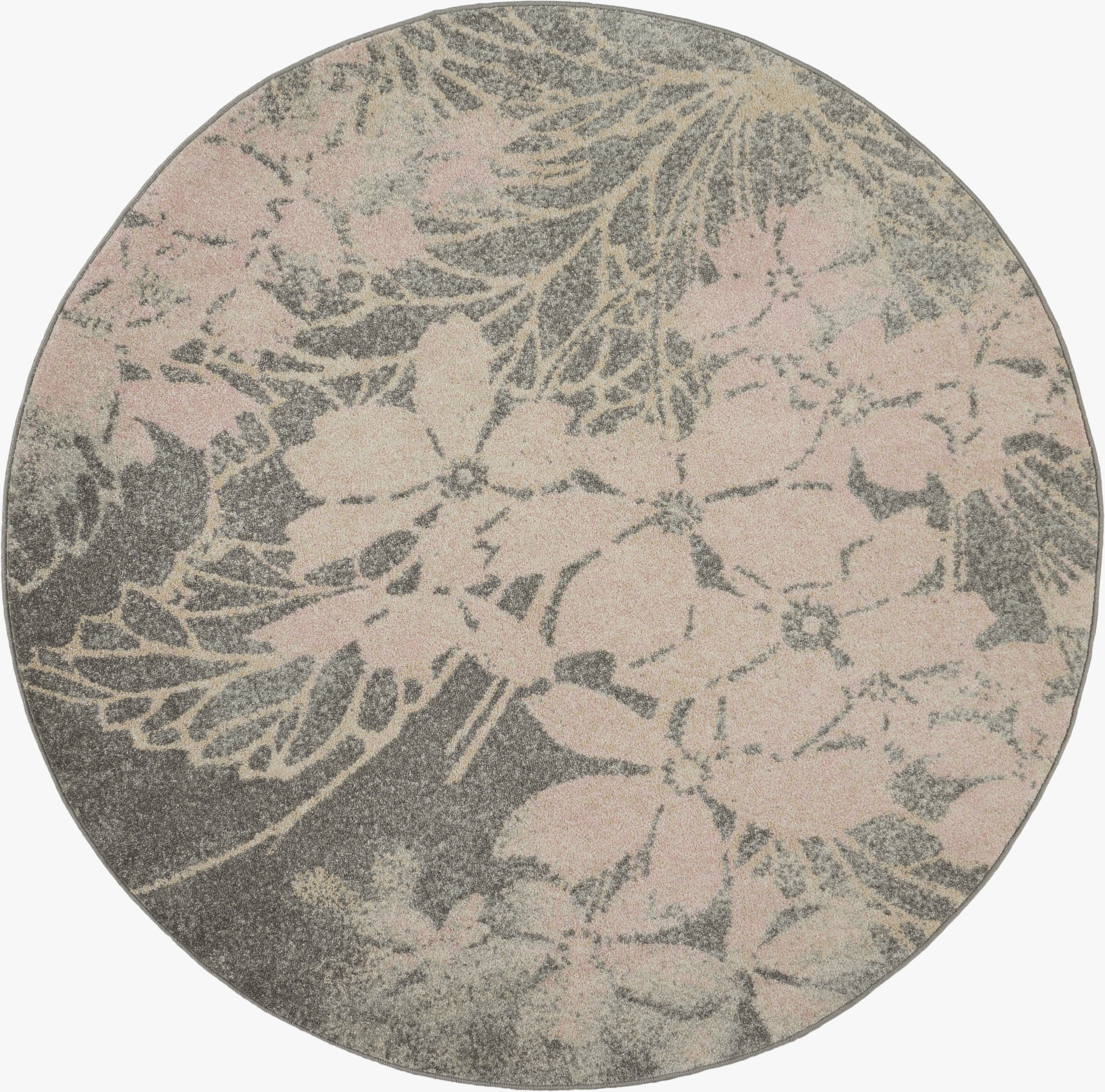 Tranquil Tra08 Grey Pink Area Rug Contemporary Ombre