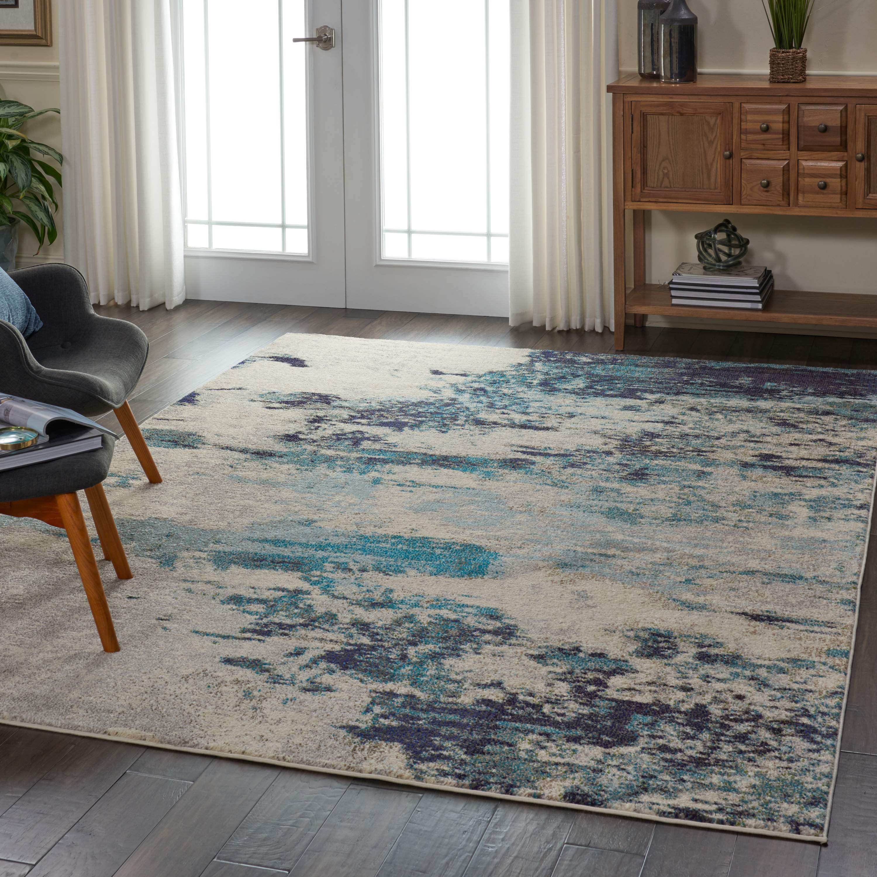 Celestial Ces02 Area Rug Colorful Contemporary Abstract By