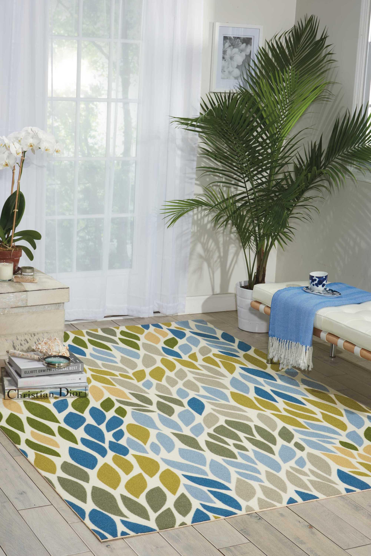 Nourison Home Amp Garden Blue Indoor Outdoor Area Rug Ebay