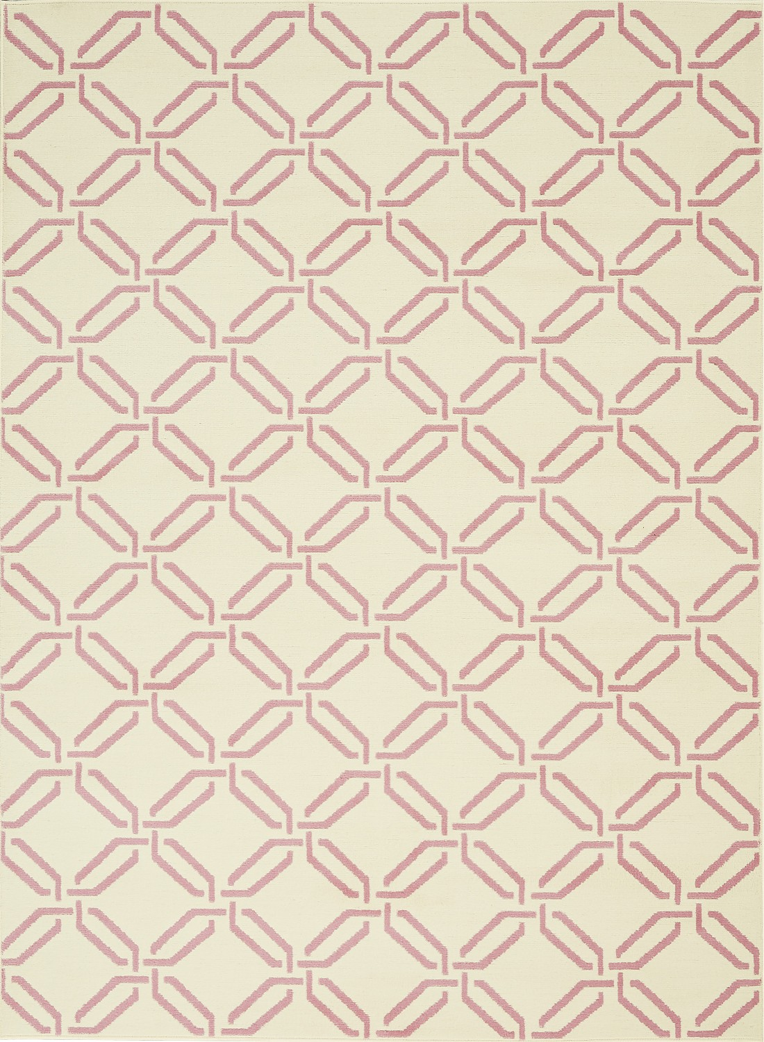 Jubilant JUB17 Ivory/Pink Area Rug Eclectic Retro Trellis By