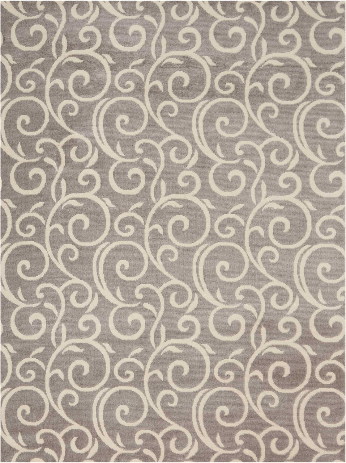 Grafix GRF19 Grey Area Rug Bohemian Contemporary Botanical B