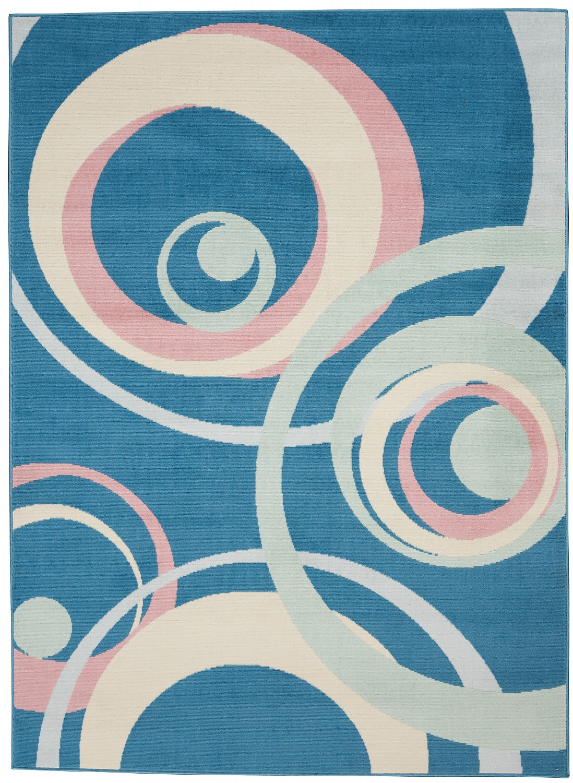 Nourison Grafix GRF21 Blue/Pink Indoor Area Rug