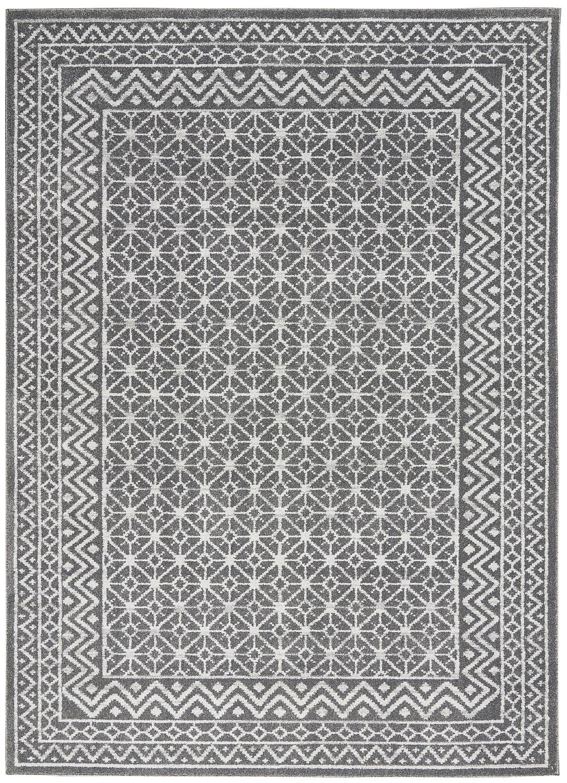 Nourison Royal Moroccan RYM02 Charcoal/Silver Indoor Area Ru