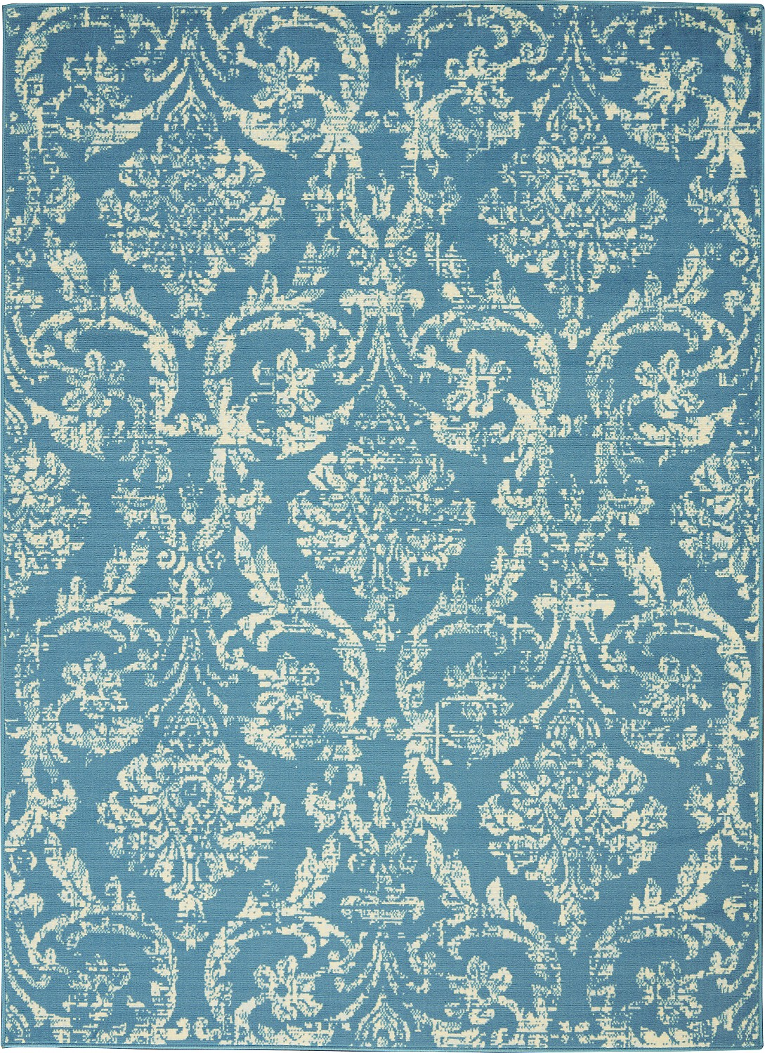 jubilant jub09 blue area rug farmhouse vintage