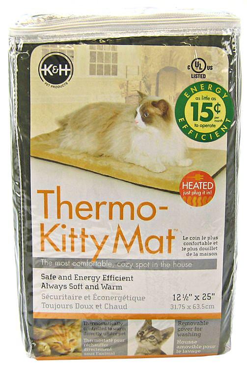 K Amp H Pet Thermo Kitty Mat Mocha