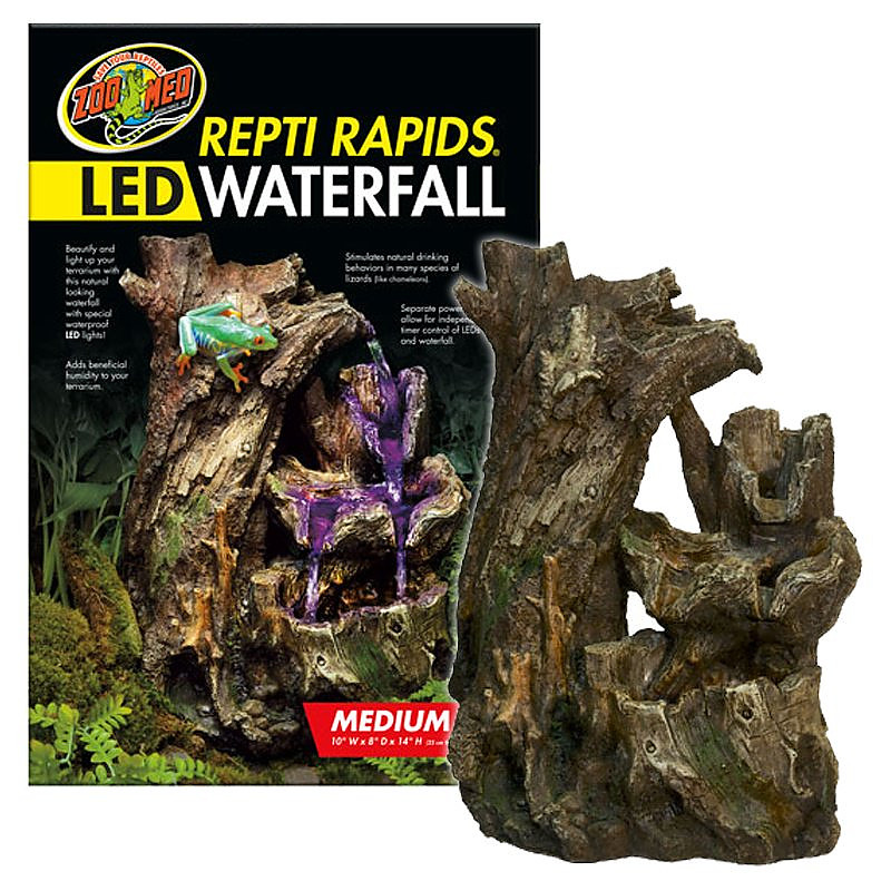 Zoo Med Repti Rapids Led Waterfall Wood Style