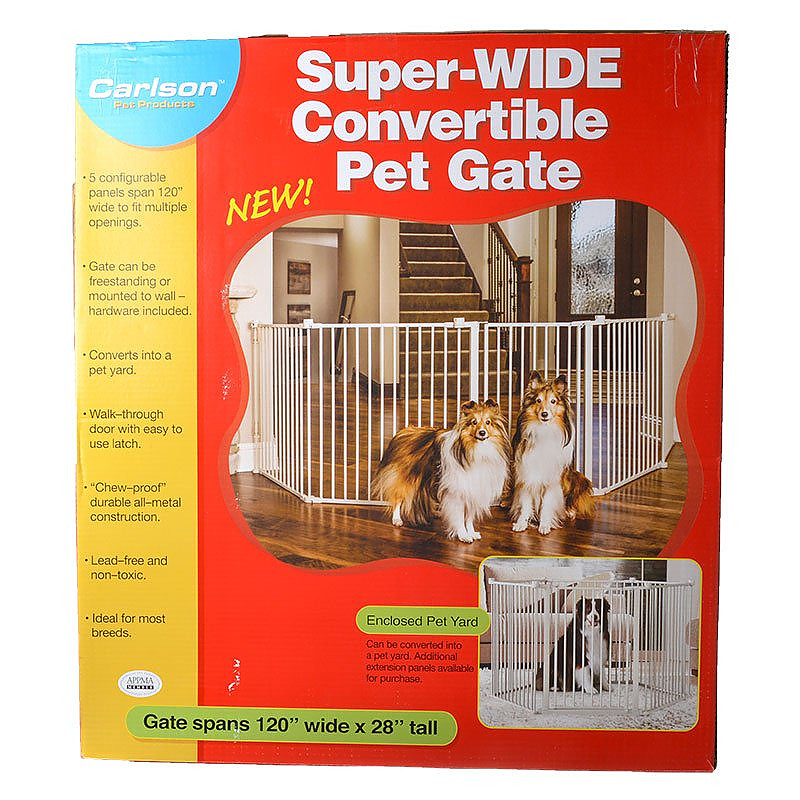 Carlson Super Wide Convertible Pet Gate