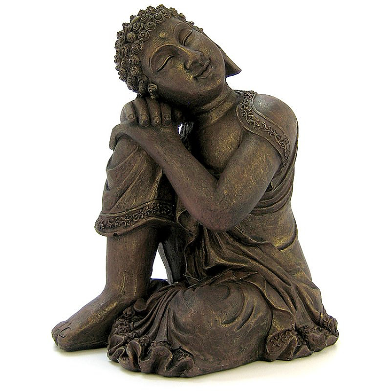 exotic environments resting buddha statue ornament. Black Bedroom Furniture Sets. Home Design Ideas