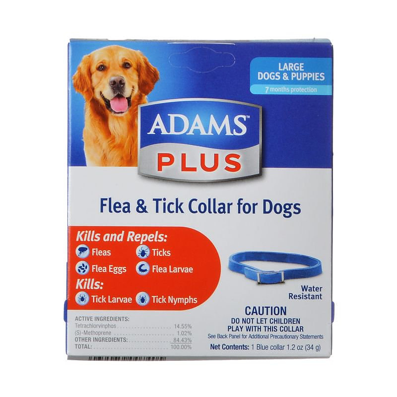 Adams Flea And Tick Control Collar For Large Dogs