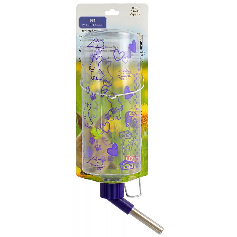 Lixit Pet Water Bottle for Small Animals - Clear