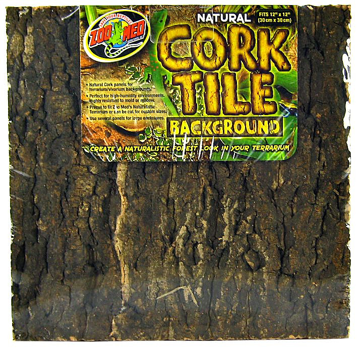 Zoo Med Natural Cork Tile Background