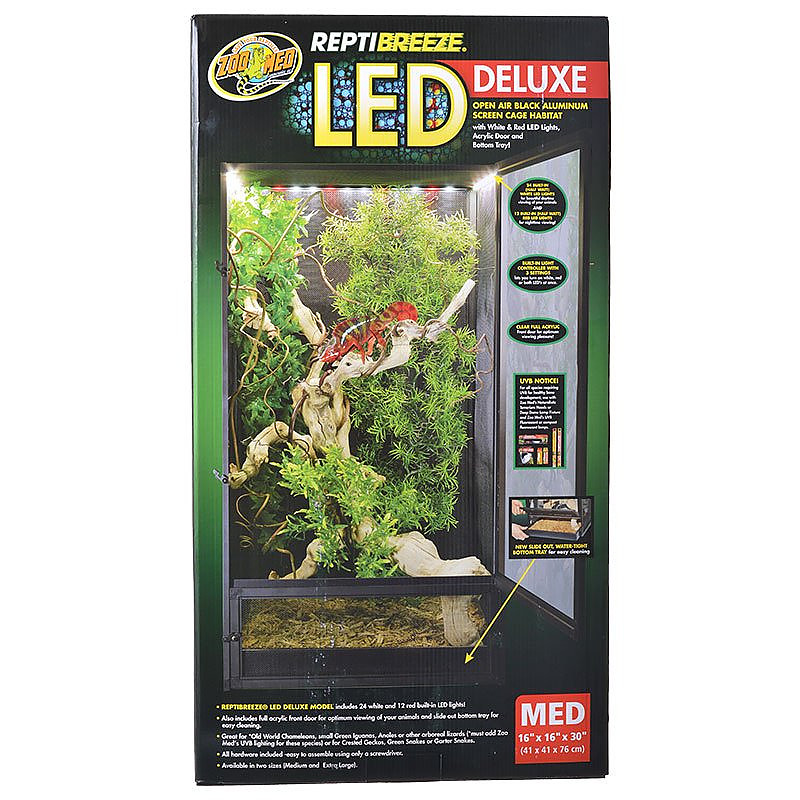 Zoo Med Reptibreeze Led Deluxe Open Air Aluminum Screen