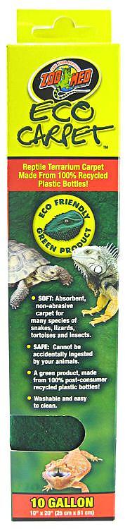 Zoo Med Eco Carpet For Reptile Terrariums Green