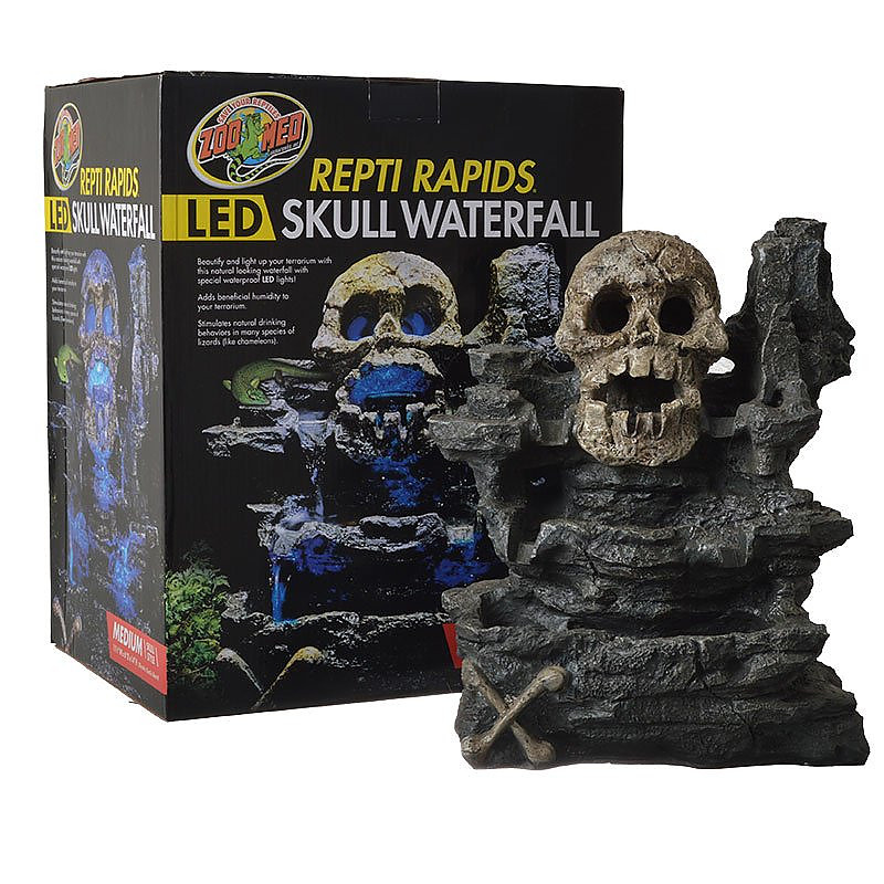 Zoo Med Repti Rapids Led Skull Waterfall