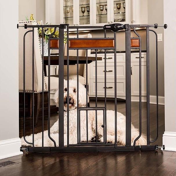 Carlson Design Paw Extra Wide Walk Thru Pet Gate With Door