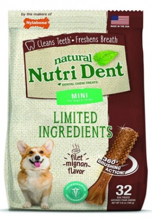 Nylabone TFH Nutri Dent Filet Mignon Flavor Dog Chews alternate img #1