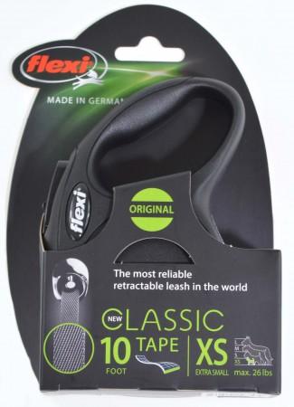 Flexi New Classic Retractable Tape Leash - Black alternate img #2