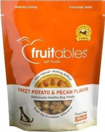 Fruitables Sweet Potato & Pecan Flavor Crunchy Dog Treats alternate img #1