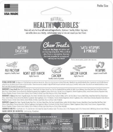 Nylabone Healthy Edibles Chews - Roast Beef & Chicken Flavor - Petite alternate img #2