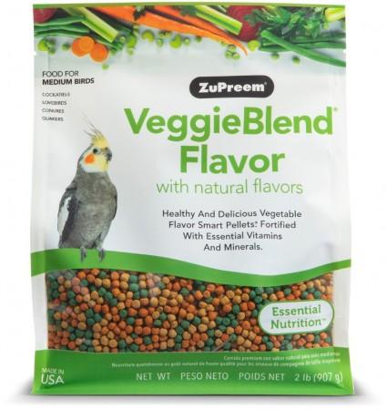 ZuPreem VeggieBlend Flavor with Natural Flavors Bird Food for Medium Birds alternate img #1