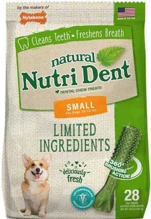 Nylabone Natural Nutri Dent Fresh Breath Limited Ingredients Small Dog Chews alternate img #1