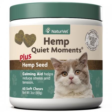 NaturVet Hemp Quiet Moments plus Hemp Seed Cat Chews alternate img #1