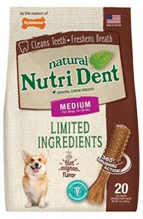 Nylabone TFH Nutri Dent Filet Mignon Flavor Dog Chews for Medium Dogs alternate img #1