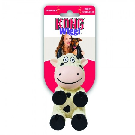 KONG Wiggi Cow Dog Toy alternate img #1