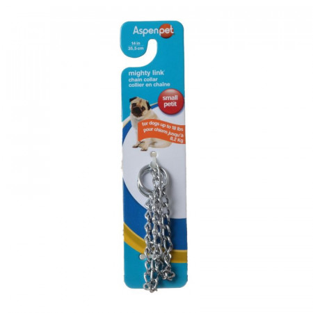 Aspen Pet Mighty Link Chain Collar - Lightweight alternate img #1