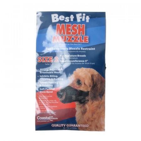Coastal Pet Best Fit Mesh Muzzle - Black alternate img #1