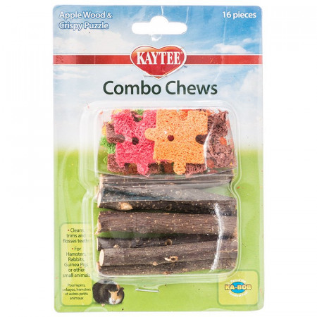 Kaytee Combo Chew - Apple Wood & Crispy Puzzle alternate img #1