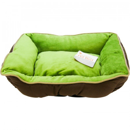 K&H Pet Self-Warming Lounge Sleeper - Mocha & Green alternate img #1