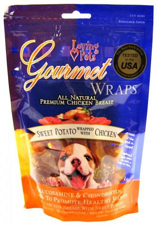 Loving Pets Gourmet Wraps - Sweet Potato & Chicken alternate img #1