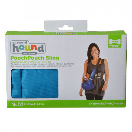 Outward Hound Pooch Pouch Sling Pet Carrier Blue alternate img #1