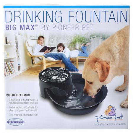 Pioneer Pet Big Max Ceramic Drinking Fountain - Black alternate img #1