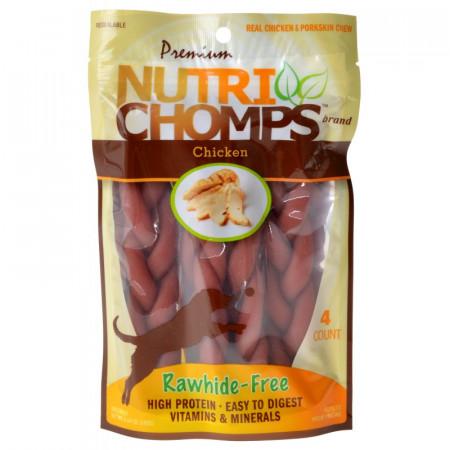 Pork Chomps Premium Nutri Chomps Chicken Flavor Braids alternate img #1