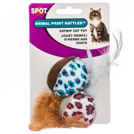 Spot Animal Print Rattle with Catnip alternate img #1