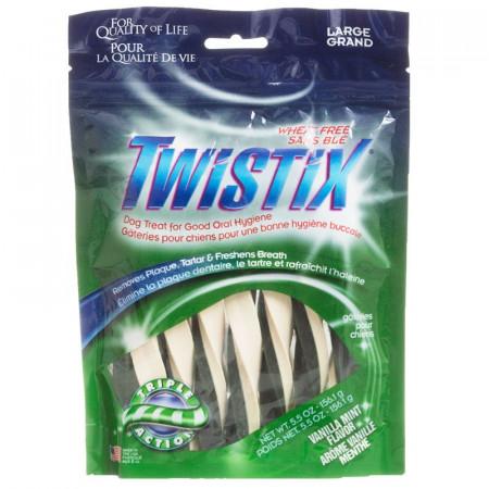Twistix Vanilla Mint Flavor Dog Treats - Large alternate img #1